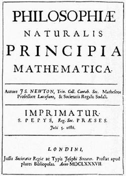 Newton's Principia Published