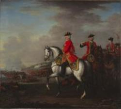 George II Fights Battle of Dettingen