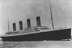 Titanic sets sail on maiden voyage