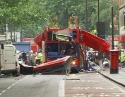 Four terrorists explode bombs on London Transport system