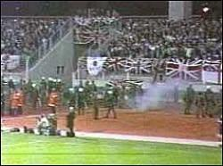 England Fans Riot in Luxembourg