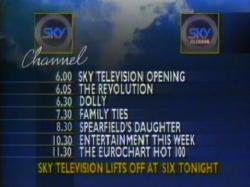 Launch of Sky TV