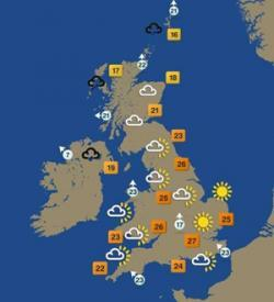 First Weekly Weather Forecasts in UK