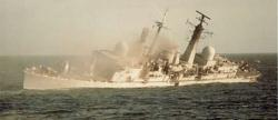 HMS Coventry Sunk